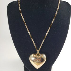 Erica Lyons, 30 inches Gold Necklaces & 3D Pendant